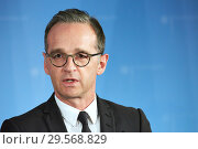 Купить «Berlin, Germany - Federal Foreign Minister Heiko Maas.», фото № 29568829, снято 17 октября 2018 г. (c) Caro Photoagency / Фотобанк Лори