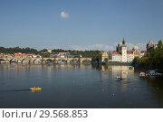 Prague, Hlavni mesto Praha, Czech Republic - Moldova and Charles Bridge. City view with a view of the old town. (2018 год). Редакционное фото, агентство Caro Photoagency / Фотобанк Лори