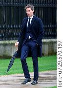 Купить «The funeral of Stephen Hawking at Great St. Mary Church in Cambridge Featuring: Eddie Redmayne Where: London, United Kingdom When: 31 Mar 2018 Credit: WENN.», фото № 29570197, снято 31 марта 2018 г. (c) age Fotostock / Фотобанк Лори