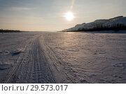 Купить «Зимняя река Вятка», фото № 29573017, снято 4 декабря 2018 г. (c) Владимир Федечкин / Фотобанк Лори