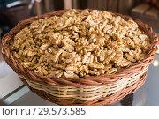 Купить «Illustration of bag with walnut», фото № 29573585, снято 4 сентября 2017 г. (c) Яков Филимонов / Фотобанк Лори