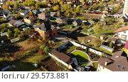 Купить «Village in Moscow region in autumn, Russia», видеоролик № 29573881, снято 18 января 2019 г. (c) Володина Ольга / Фотобанк Лори