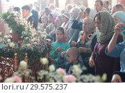 Купить «Престольный праздник в Бобреневе монастыре», эксклюзивное фото № 29575237, снято 21 сентября 2018 г. (c) Дмитрий Неумоин / Фотобанк Лори