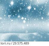 Купить «Winter background with  starry sky», фото № 29575489, снято 1 декабря 2018 г. (c) Икан Леонид / Фотобанк Лори