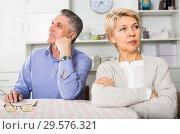 Купить «Man and woman are offended at each other», фото № 29576321, снято 23 марта 2019 г. (c) Яков Филимонов / Фотобанк Лори