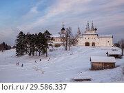 Купить «Winter landscape, Ferapontov Monastery», фото № 29586337, снято 6 января 2016 г. (c) Юлия Бабкина / Фотобанк Лори