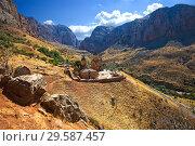 Купить «Вид на монастырь Нораванк, Армения», фото № 29587457, снято 23 сентября 2018 г. (c) Инна Грязнова / Фотобанк Лори
