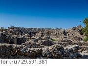 Руины античного города Сиде в Турции (Side, Antalya, Turkey) (2018 год). Редакционное фото, фотограф Ольга Сейфутдинова / Фотобанк Лори