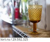 Купить «facet crystal glass for wine collection in the dishes shop», фото № 29592325, снято 29 ноября 2017 г. (c) Яков Филимонов / Фотобанк Лори
