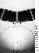Купить «Передняя часть пассажирского самолета», фото № 29595641, снято 24 апреля 2010 г. (c) Александр Гаценко / Фотобанк Лори