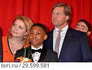 Annette Frier, Solomon Gordon, Henning Baum at the world premiere... (2018 год). Редакционное фото, фотограф AEDT / WENN.com / age Fotostock / Фотобанк Лори