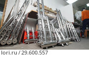 Купить «Industrial manufacturing. A storage with iron tube details for construction. Welded constructions.», фото № 29600557, снято 10 апреля 2020 г. (c) Константин Шишкин / Фотобанк Лори