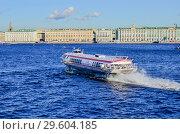 Перевозка пассажиров судном на подводных крыльях (2018 год). Редакционное фото, фотограф Сергей Журавлев / Фотобанк Лори