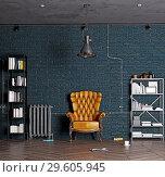 Купить «modern luxury loft interior.», фото № 29605945, снято 20 января 2019 г. (c) Виктор Застольский / Фотобанк Лори