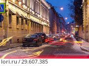 Купить «Мошков переулок. Санкт-Петербург», эксклюзивное фото № 29607385, снято 23 декабря 2018 г. (c) Александр Щепин / Фотобанк Лори