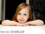 Portrait of cute little toddler girl. Стоковое фото, фотограф ivolodina / Фотобанк Лори