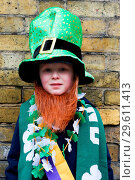 Купить «Performers prepares for the annual St Patricks Day Parade. Performers take part in the annual St Patricks Day Parade in central London, as tens of thousands...», фото № 29611413, снято 18 марта 2018 г. (c) age Fotostock / Фотобанк Лори