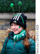 Купить «Performers prepares for the annual St Patricks Day Parade. Performers take part in the annual St Patricks Day Parade in central London, as tens of thousands...», фото № 29611429, снято 18 марта 2018 г. (c) age Fotostock / Фотобанк Лори