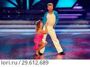 Купить «German RTL Live TV Show 'Let's Dance' at MMC Studios in Ossendorf. Featuring: Tina Ruland, Vadim Garbuzov Where: Cologne, Germany When: 16 Mar 2018 Credit: WENN.com», фото № 29612689, снято 16 марта 2018 г. (c) age Fotostock / Фотобанк Лори