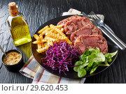 Купить «sliced terrine of beef tongue and meat», фото № 29620453, снято 18 декабря 2018 г. (c) Oksana Zh / Фотобанк Лори