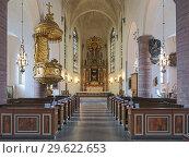 Купить «Интерьер церкви Святого Иакова в Стокгольме, Швеция», фото № 29622653, снято 3 апреля 2016 г. (c) Михаил Марковский / Фотобанк Лори