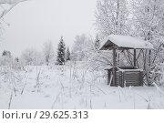 Купить «Колодец в снежном лесу», фото № 29625313, снято 28 декабря 2018 г. (c) Яковлев Сергей / Фотобанк Лори