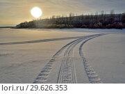 Купить «Зимняя река», фото № 29626353, снято 18 декабря 2018 г. (c) Владимир Федечкин / Фотобанк Лори