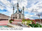 Купить «View on Kul Sharif mosque in Kazan Kremlin», фото № 29626629, снято 10 июня 2018 г. (c) FotograFF / Фотобанк Лори