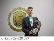 Купить «World Blitz Chess Vice Champion Jan-Krzysztof Duda, Poland», фото № 29629397, снято 30 декабря 2018 г. (c) Stockphoto / Фотобанк Лори