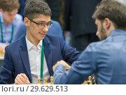 Купить «Grandmaster Alireza Firouzja, Iran», фото № 29629513, снято 30 декабря 2018 г. (c) Stockphoto / Фотобанк Лори