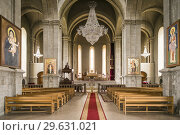 Nagorno Karabakh Republic, Shushi, Ghazanchetsots Cathedral, 19th century, interior. Стоковое фото, фотограф Walter Bibikow / age Fotostock / Фотобанк Лори