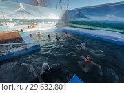 Купить «Люди купаются в бассейне с термальной минеральной водой», фото № 29632801, снято 25 декабря 2016 г. (c) А. А. Пирагис / Фотобанк Лори