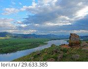 Купить «Пейзаж долины реки Селенга», фото № 29633385, снято 17 июня 2007 г. (c) Пётр Писковой / Фотобанк Лори