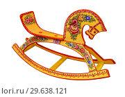 Купить «Children's rocking horse, russian folk traditional art, Russia», фото № 29638121, снято 20 декабря 2018 г. (c) Наталья Волкова / Фотобанк Лори