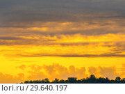 Купить «Fantastic bright sky at sunset of the day.», фото № 29640197, снято 2 сентября 2018 г. (c) Акиньшин Владимир / Фотобанк Лори