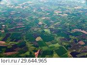 Купить «Farmland from great height in the Krasnodar Territory of Russia», фото № 29644965, снято 29 мая 2018 г. (c) Володина Ольга / Фотобанк Лори