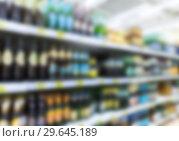 Купить «Abstract blur in supermarket as background», фото № 29645189, снято 9 августа 2018 г. (c) FotograFF / Фотобанк Лори