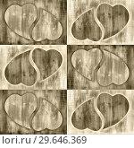 Valentines day monochrome background with hearts shape. Стоковая иллюстрация, иллюстратор bashta / Фотобанк Лори