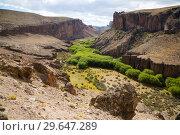 Canyon of river Rio Pinturas (2017 год). Стоковое фото, фотограф Яков Филимонов / Фотобанк Лори