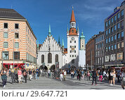 Купить «Старая ратуша Мюнхена в солнечный летний день, Германия», фото № 29647721, снято 16 мая 2017 г. (c) Михаил Марковский / Фотобанк Лори