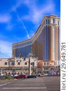 Купить «The Venetian Hotel and Casino in Las Vegas, Nevada.», фото № 29649781, снято 19 ноября 2018 г. (c) age Fotostock / Фотобанк Лори
