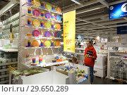 Купить «Florida, Fort Ft. Lauderdale, Sunrise, IKEA, furniture home furnishings accessories, inside, shopping, plates cups, woman, looking,», фото № 29650289, снято 22 декабря 2018 г. (c) age Fotostock / Фотобанк Лори
