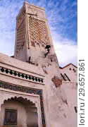 Exterior view to Mister Ramadan mosque, Casbah of Algiers, Algeria (2017 год). Стоковое фото, фотограф Сергей Майоров / Фотобанк Лори