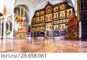 Купить «Orthodox iconostasis inside the Church», фото № 29658061, снято 8 июля 2018 г. (c) FotograFF / Фотобанк Лори
