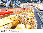 Купить «Tasty freshly cheese ready to sale», фото № 29658313, снято 24 марта 2018 г. (c) FotograFF / Фотобанк Лори