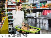 Купить «Customer telephoning to consult», фото № 29658769, снято 23 ноября 2016 г. (c) Яков Филимонов / Фотобанк Лори