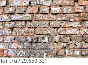 Купить «Old weathered dirty brick wall as background texture», фото № 29659321, снято 1 апреля 2017 г. (c) FotograFF / Фотобанк Лори