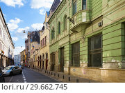 Купить «Streets of Arad town, Romania», фото № 29662745, снято 13 сентября 2017 г. (c) Яков Филимонов / Фотобанк Лори