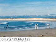 Купить «Beach and Atlantic Ocean. Lampaul-Ploudalmezeau, Finistere, Brittany, France», фото № 29663125, снято 19 сентября 2017 г. (c) Николай Коржов / Фотобанк Лори