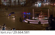 Купить «Timelapse of transport traffic on Plaza de Cibeles in night Madrid, Spain», видеоролик № 29664581, снято 24 января 2019 г. (c) Данил Руденко / Фотобанк Лори